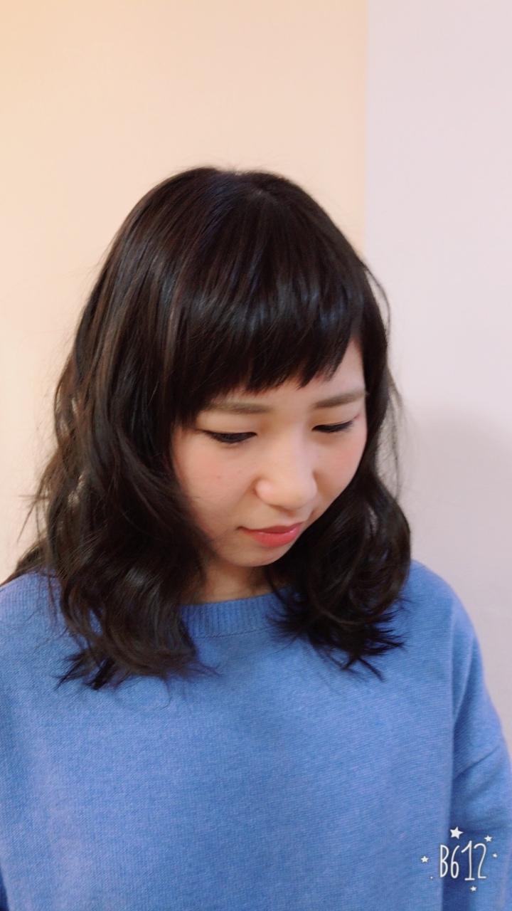 アシメントリー前髪